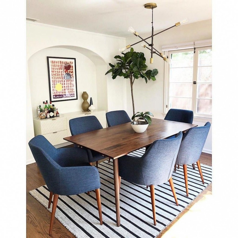 Dining Chair Slipcovers Set Of 9 in 9  Mid century modern  - Dining Room Replacement Ideas