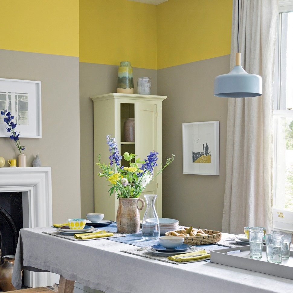 Dining room paint ideas – colours and paint effects for dining in  - Dining Room Ideas Colour Schemes