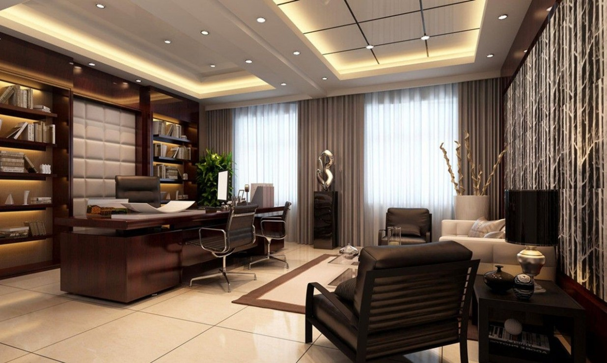 Discover our board of home office ideas to help select the design  - Executive Home Office Ideas