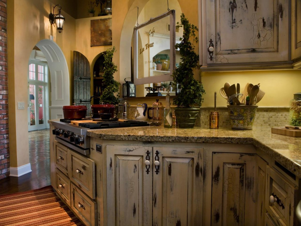 Distressed Kitchen Cabinets: Pictures & Ideas From HGTV  HGTV - Distressed Kitchen Cabinets Pictures