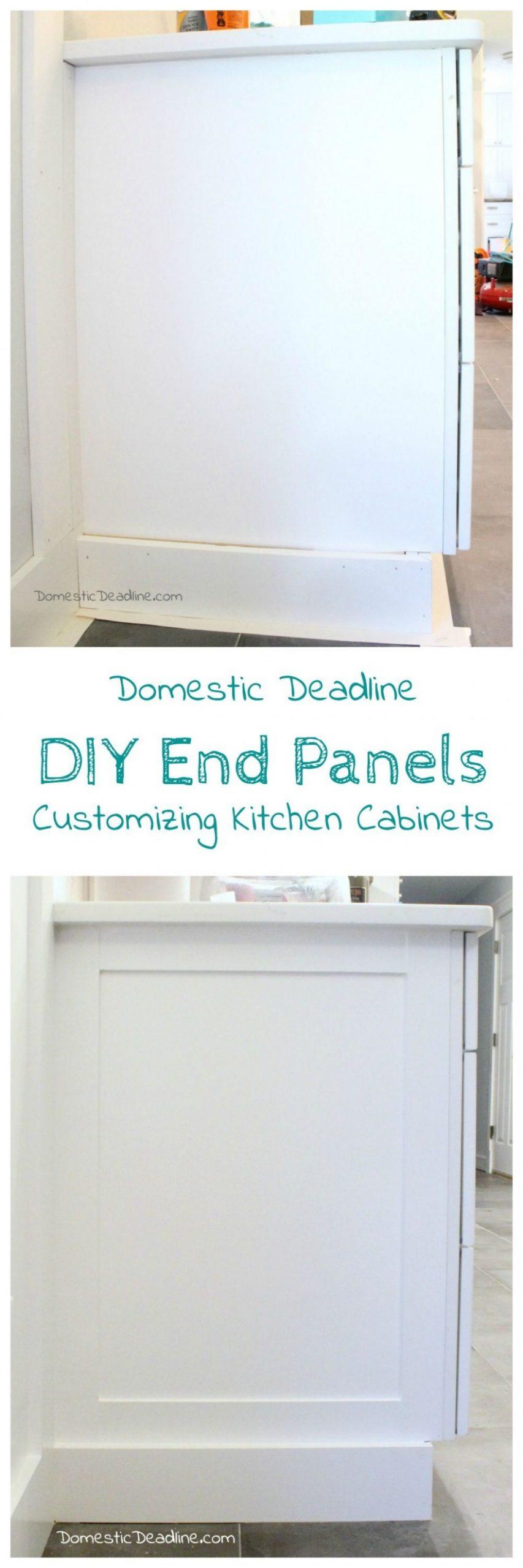 DIY Cabinet End Panels  Domestic Deadline  Kitchen units decor  - Kitchen Cabinet Decorative End Panels