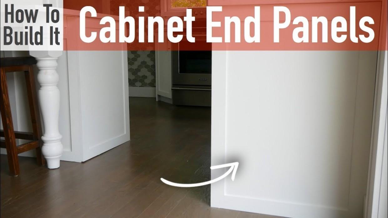 DIY Kitchen Cabinet End Panels - Kitchen Cabinet Decorative End Panels
