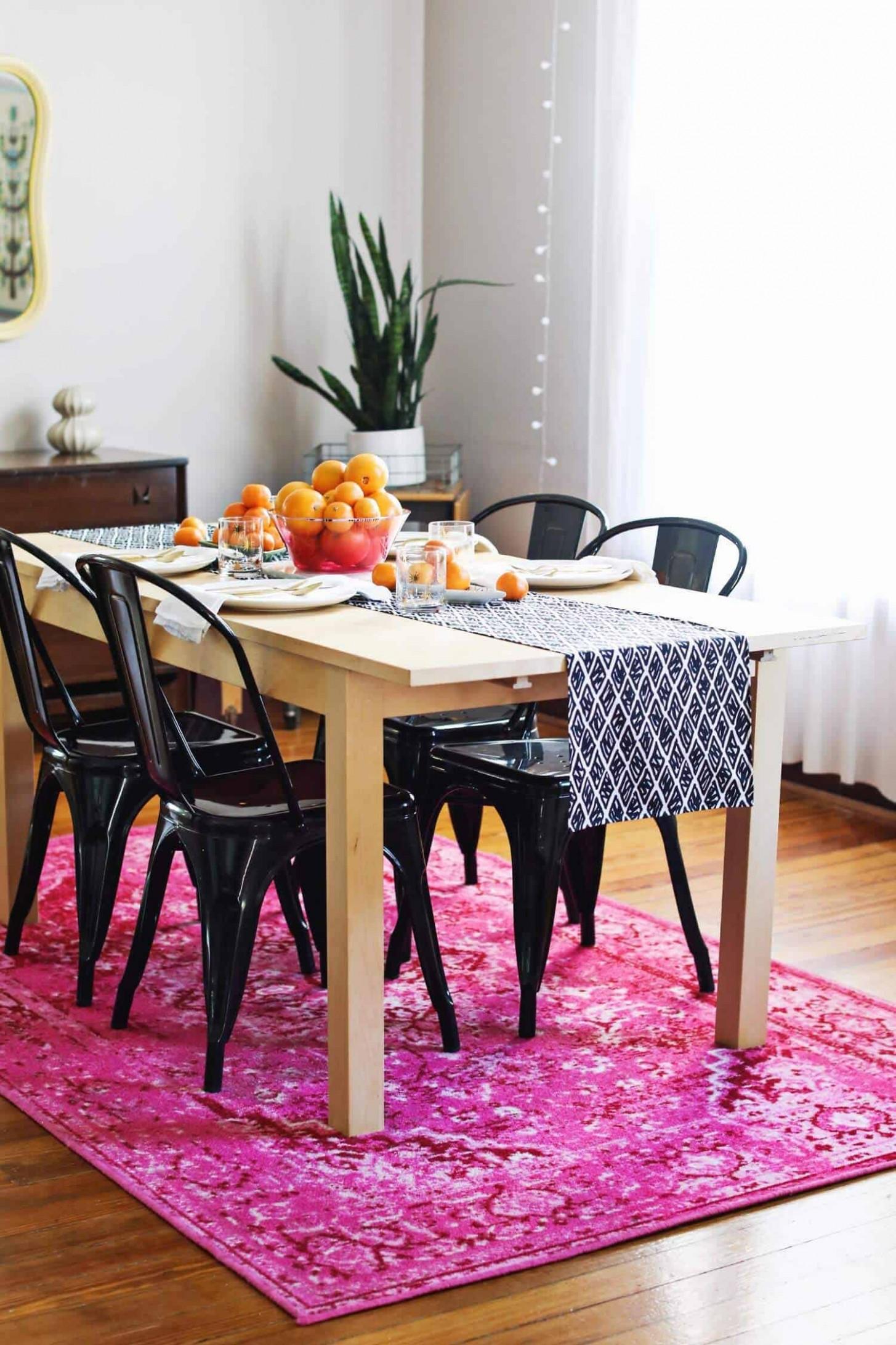 DIY Modern Table Runner - A Beautiful Mess - Dining Room Runner Ideas