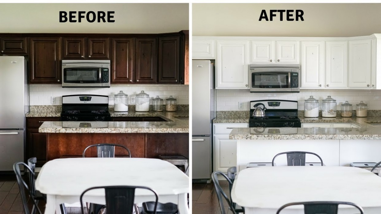 DIY Paint Your Kitchen Cabinets Like a Pro - Youtube Painted Kitchen Cabinets