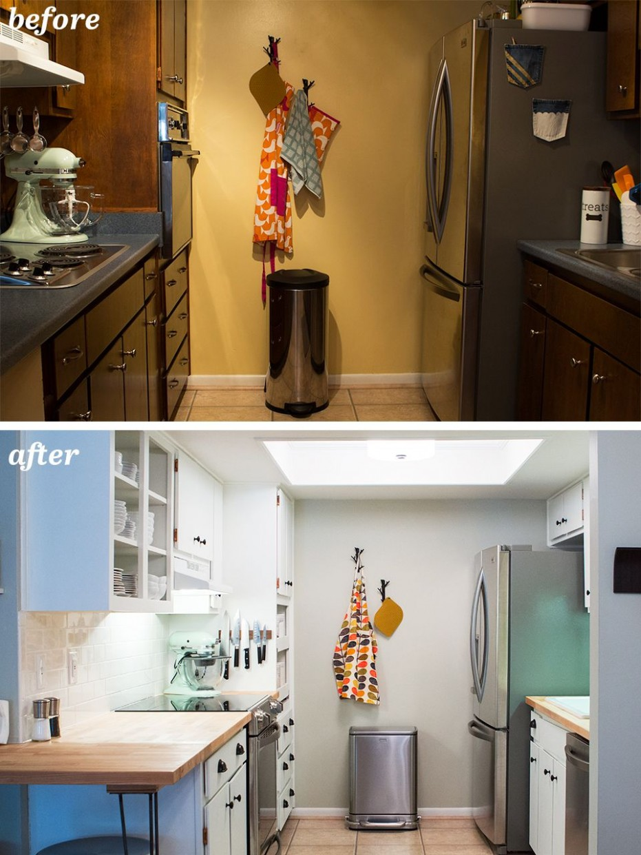 DIY Small Galley Kitchen Remodel  Galley kitchen remodel, Kitchen  - Diy Galley Kitchen Cabinet Ideas
