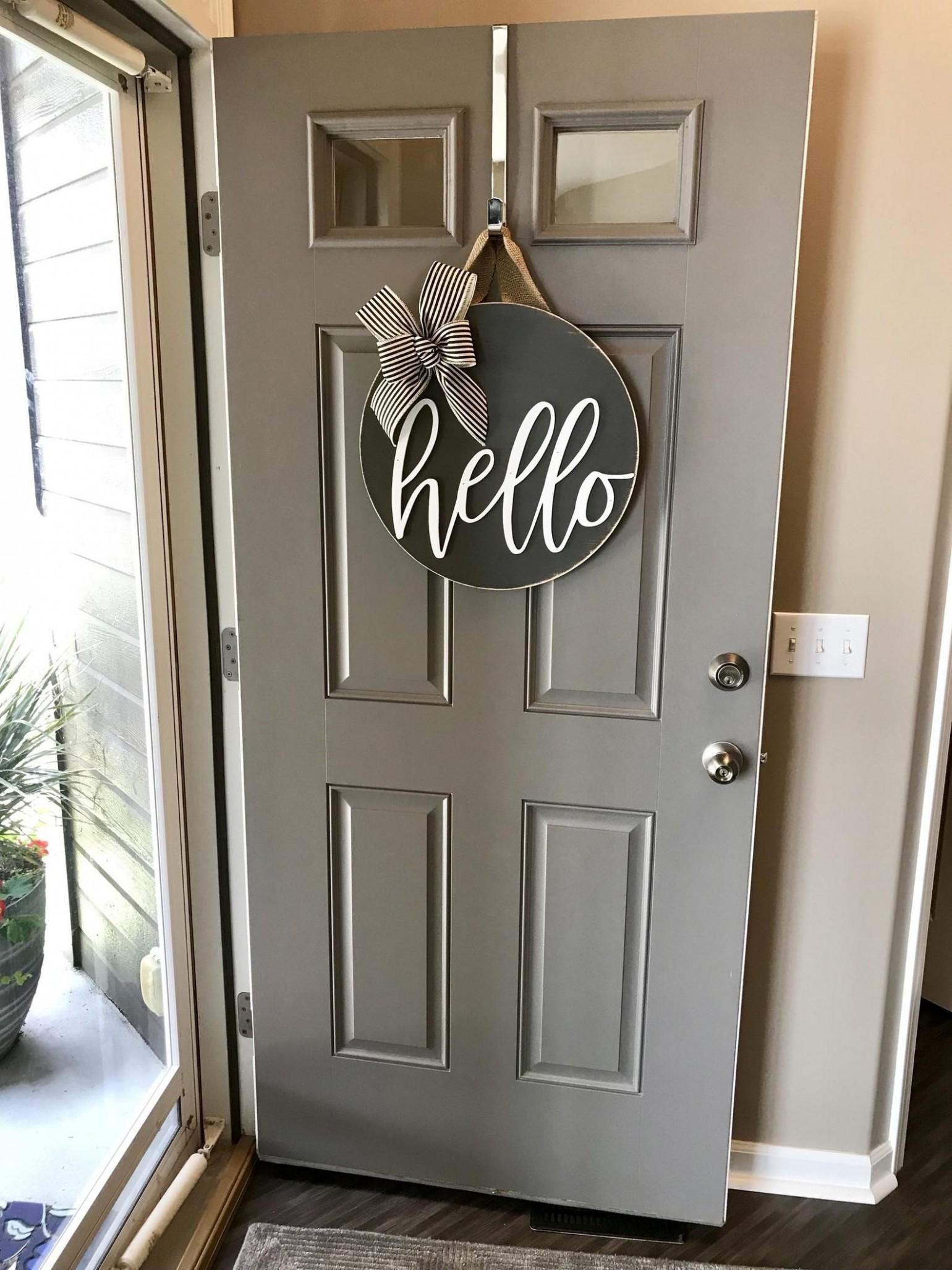 Door Decoration, Hello, Door Hanger, Front Door Decor, Door Wreath  - Apartment Door Decor Ideas