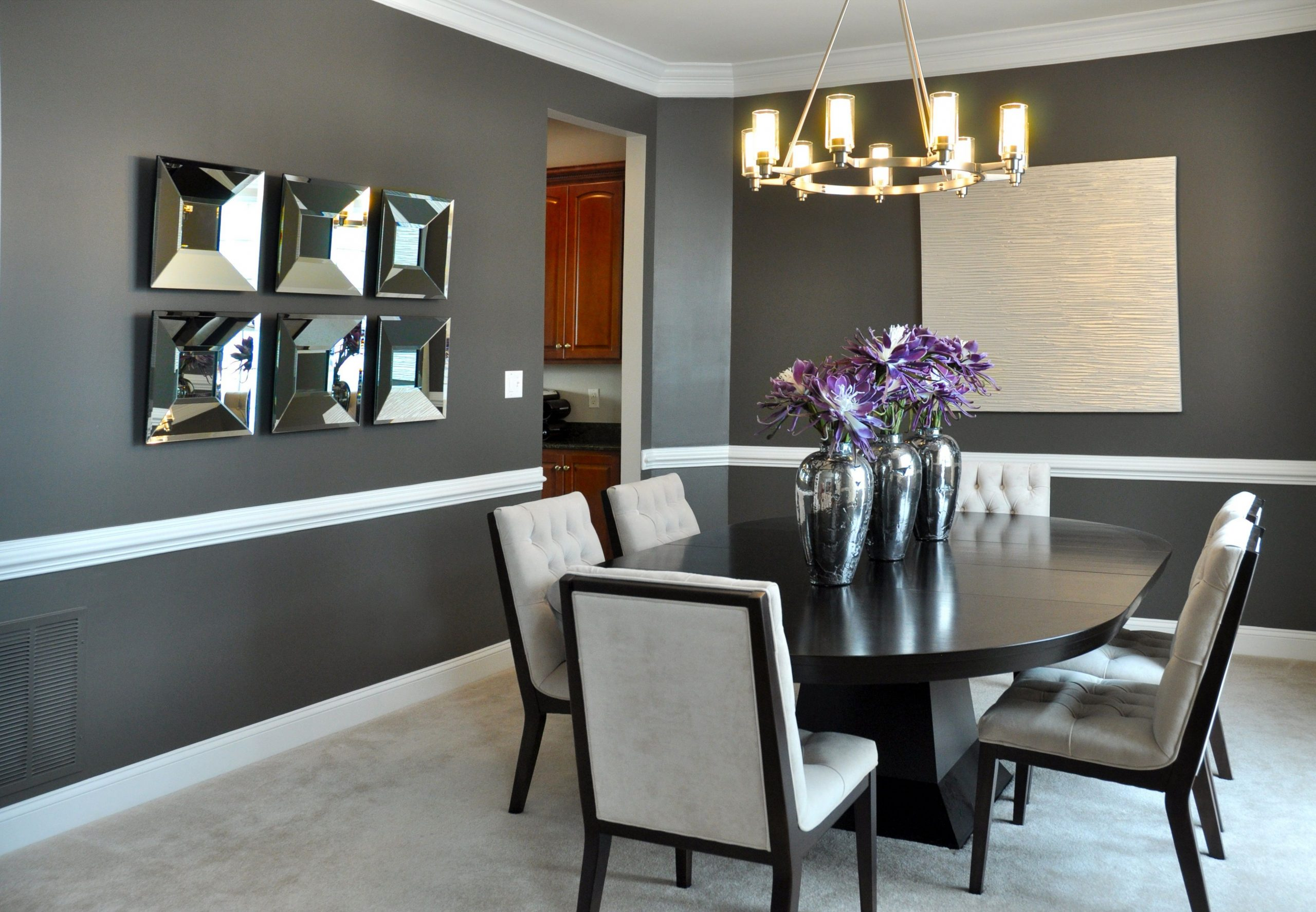 Edgy Style in Modern Dining Room Decoration  Dining room colors  - Dining Room Ideas Contemporary