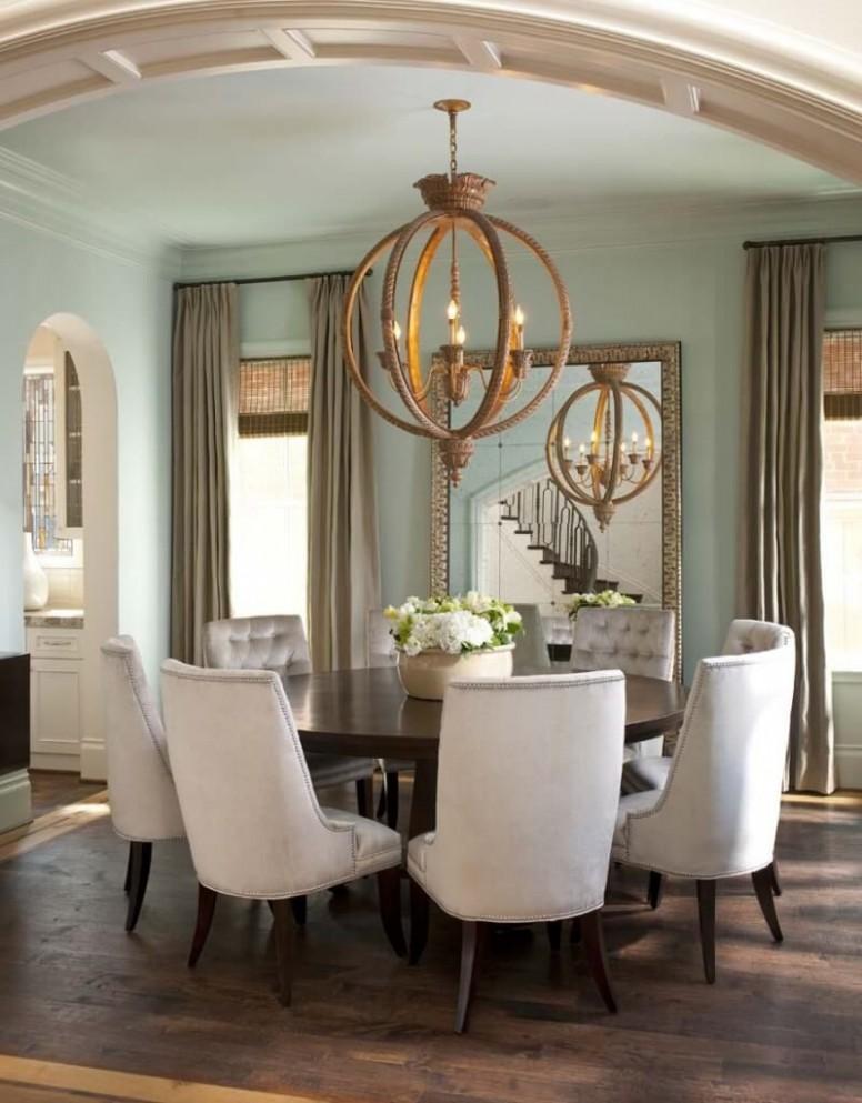 Ellen Grasso Creates Elegant Interior for Stately Dallas Home  - Dining Room Ideas Round Table