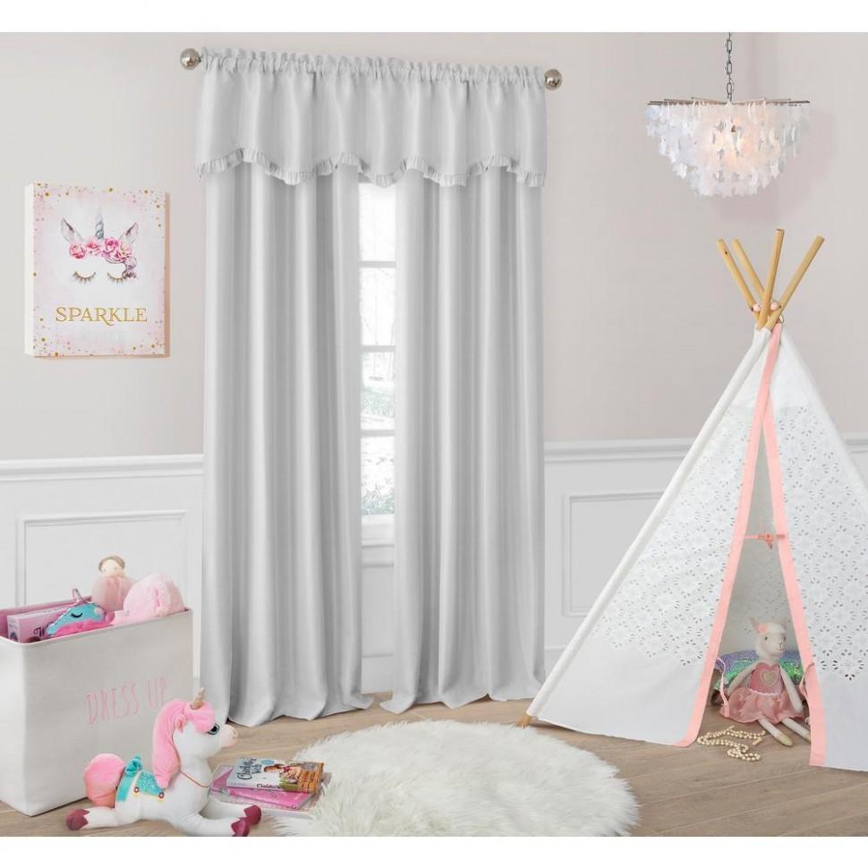 Elrene Adaline Nursey and Kids Blackout Window Curtain-12LAV  - Baby Room Valances