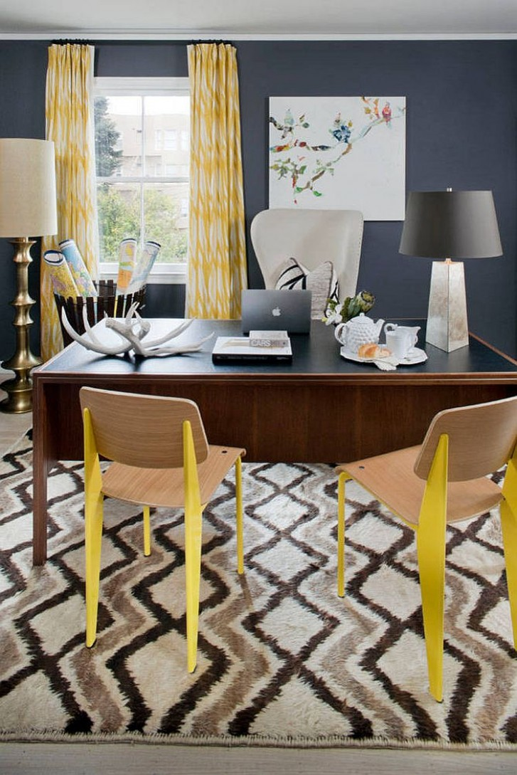 Energize Your Workspace: 9 Home Offices with Yellow Radiance - Yellow Home Office Decorating Ideas