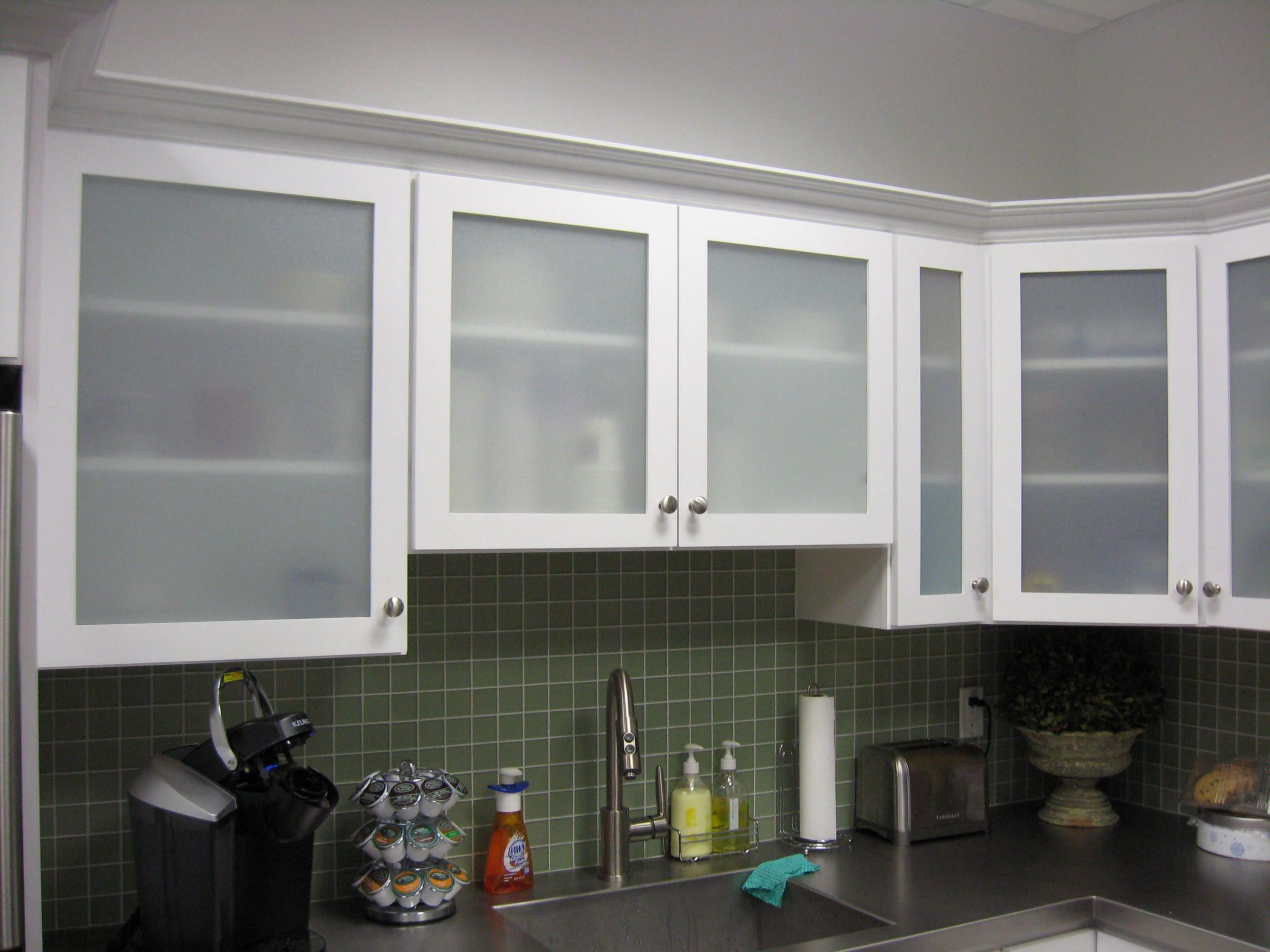 Engaging Kitchen Cabinet Doors With Glass in 9  Glass kitchen  - Frosted Cabinets Kitchen