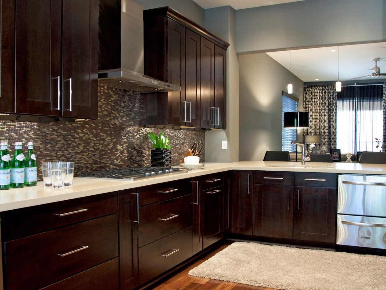 Espresso Kitchen Cabinets: Pictures, Ideas & Tips From HGTV  HGTV - Brown Colored Kitchen Cabinets