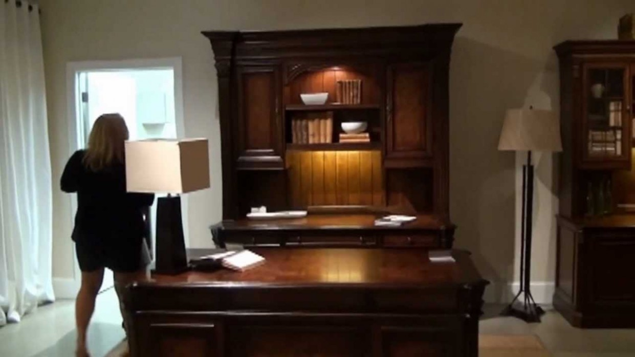 European Rennaissance Executive Home Office Desk Set by Hooker Furniture   Home Gallery Stores - Executive Home Office Ideas
