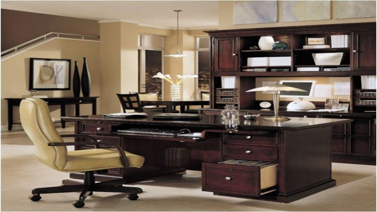Executive Home Office Ideas  Home office setup, Rustic home  - Executive Home Office Ideas