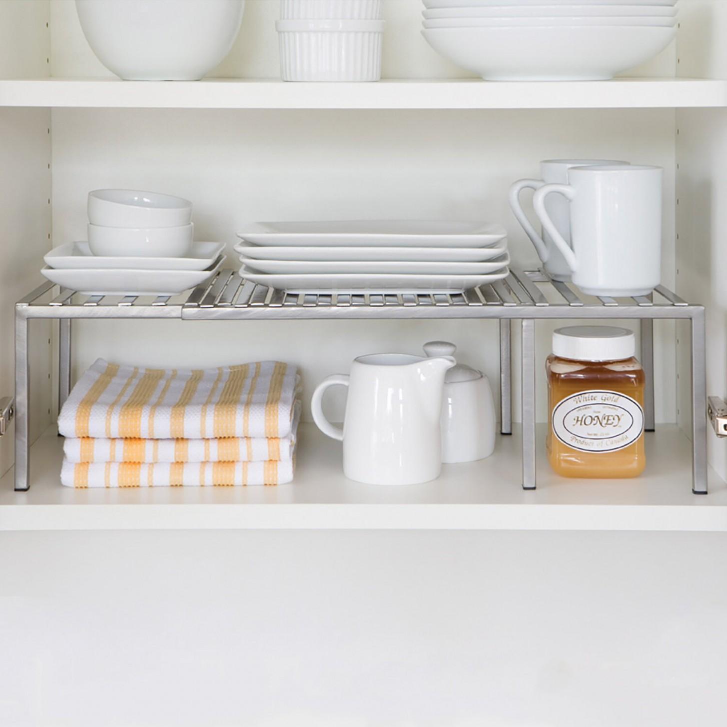 Expandable Kitchen Cabinet Helper Shelf - 26 X10