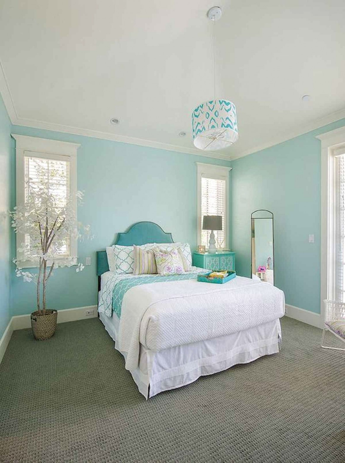 Favorite Farmhouse Master Bedroom Decor Ideas  Turquoise room  - Bedroom Ideas Turquoise