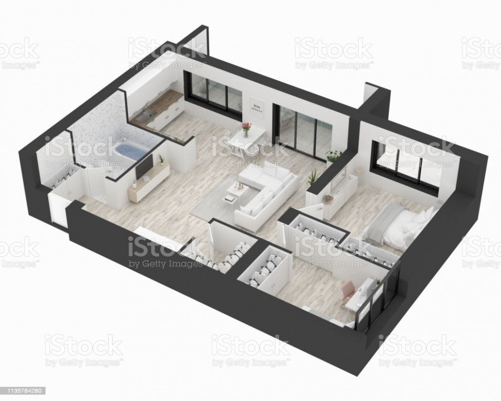 Floor Plan Of A Home Top View Open Concept Living Apartment Layout Stock  Photo - Download Image Now - Apartment Design Floor Plan