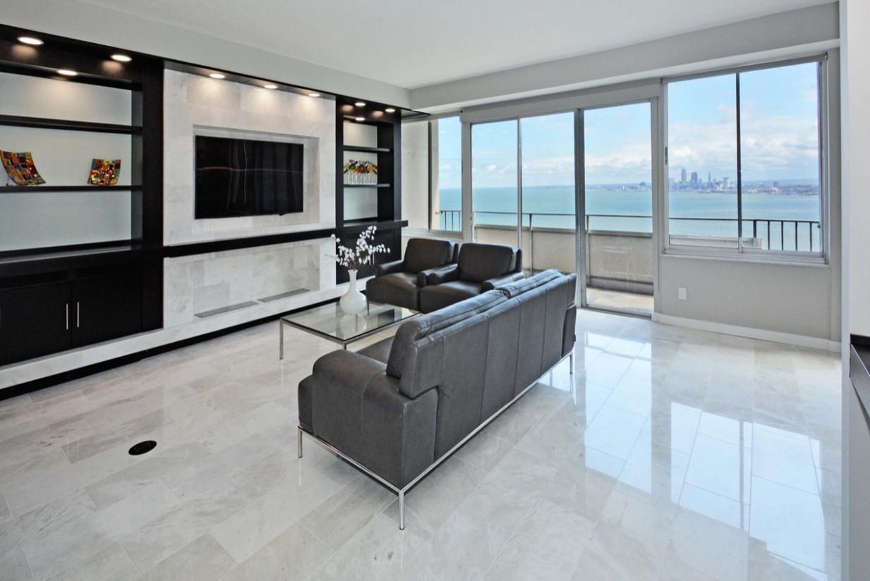 Floor Tiles Modern Living Room  Houzz - Dining Room Ideas Tile Floor