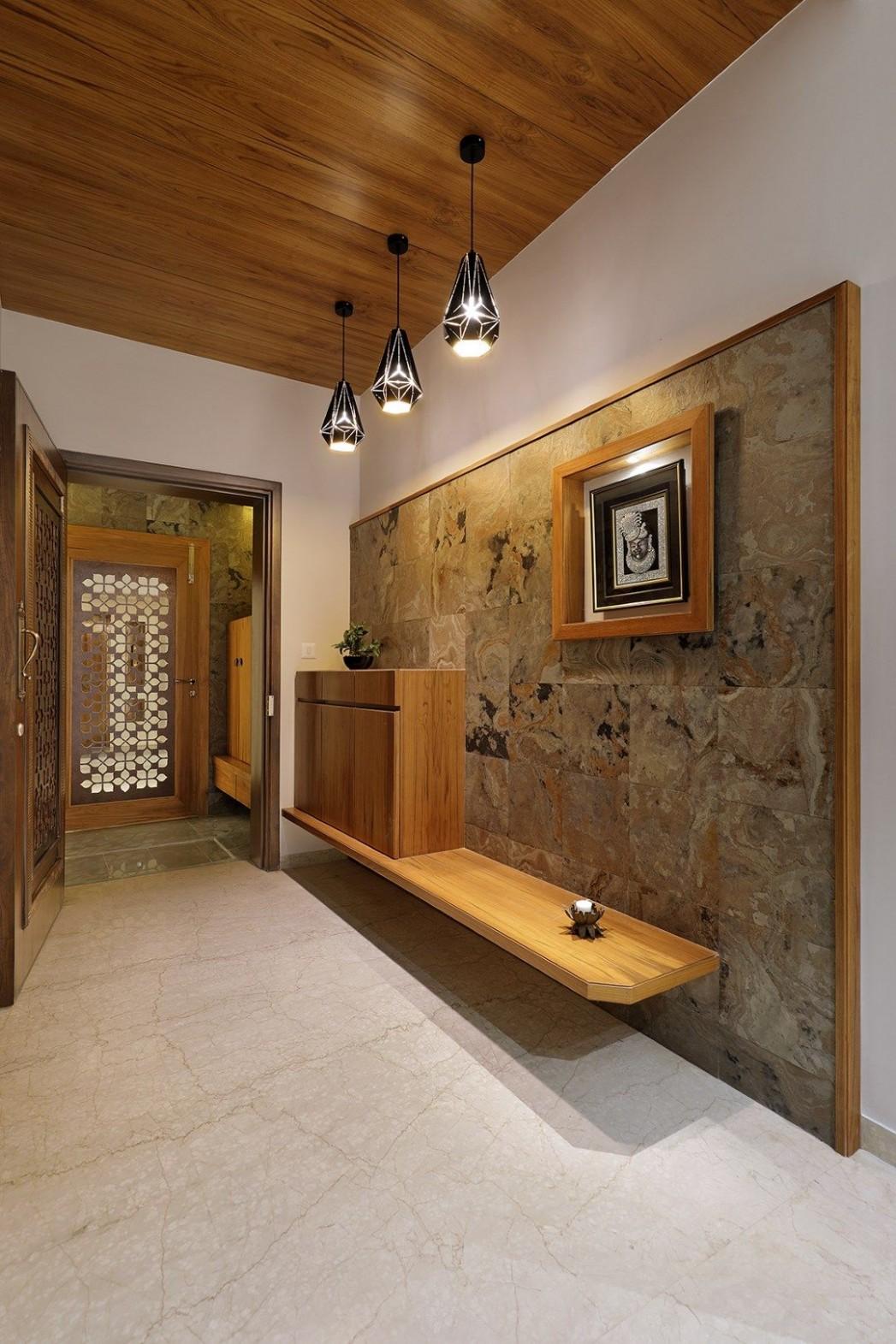 Floral Pattern Inspires Apartment Interiors  Studio 11 - The  - Apartment Entrance Design