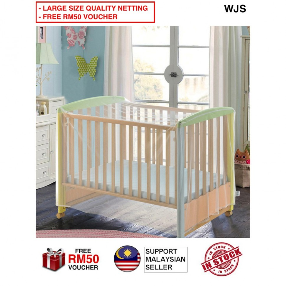 🇲🇾FREE RM11 VOUCHER🎁 WJS Baby Bedding Mosquito Net Baby Crib Net Playpen  Mosquit - Baby Room Voucher