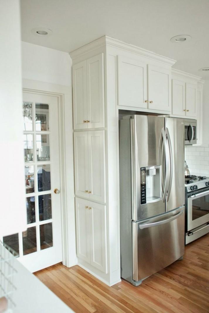 fridge side cabinet  Kitchen cabinets decor, Kitchen remodel  - Kitchen Fridge Cabinet