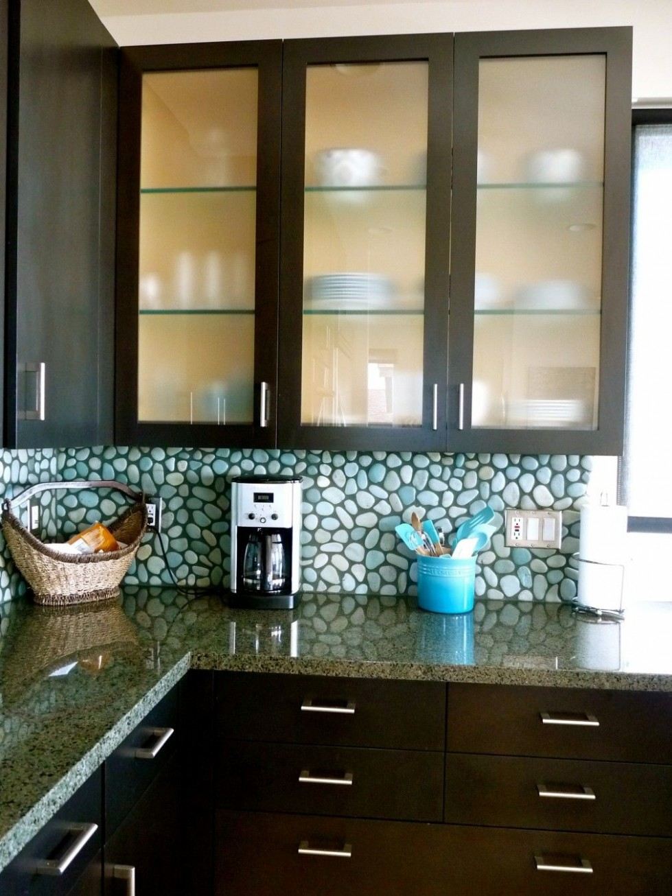 frosted-glass-kitchen-cabinet-doors-granite-kitchen-cabinet  - Frosted Cabinets Kitchen