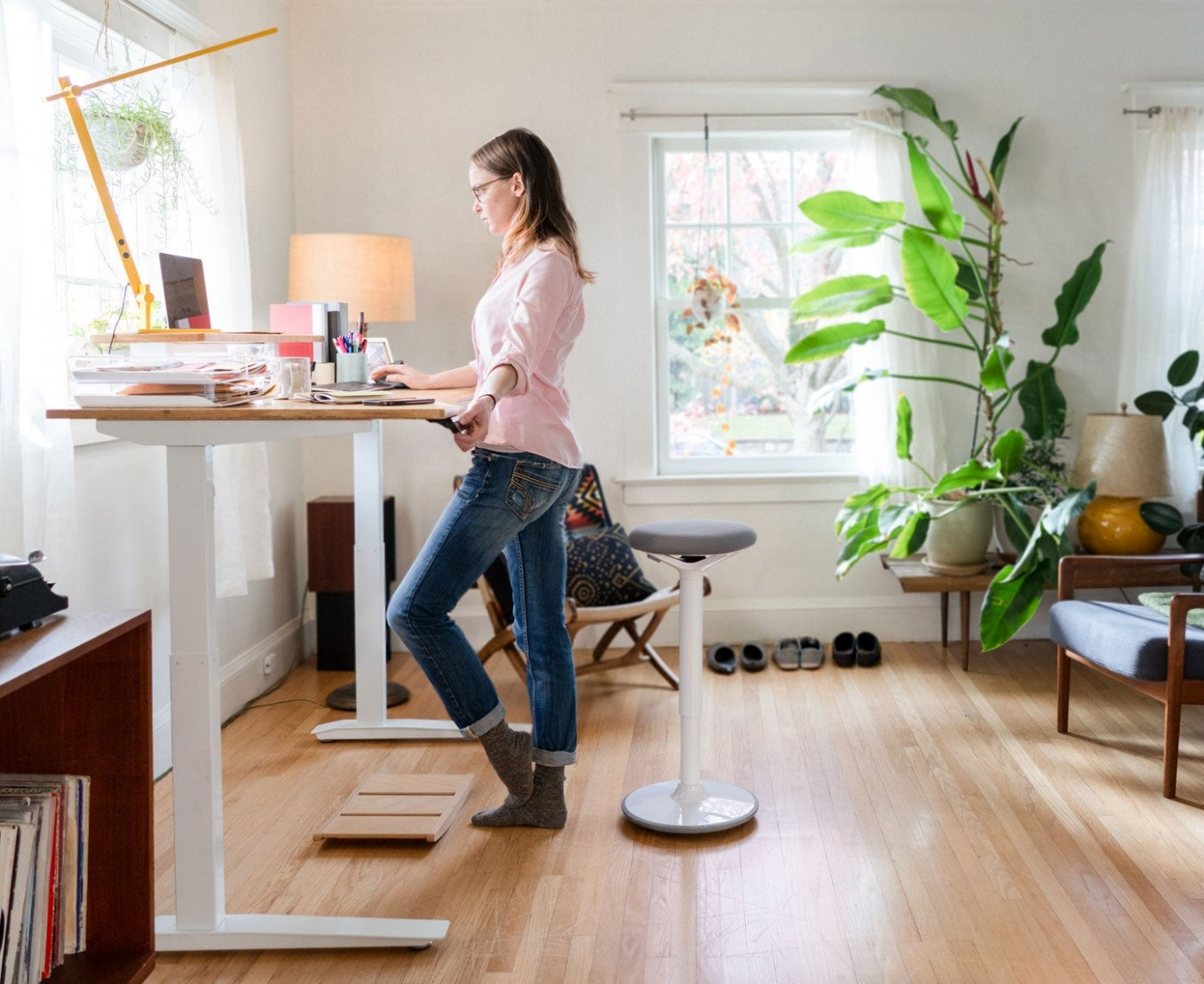 Fully - Standing desks, chairs, and things to keep you moving - Home Office Ideas With Standing Desk