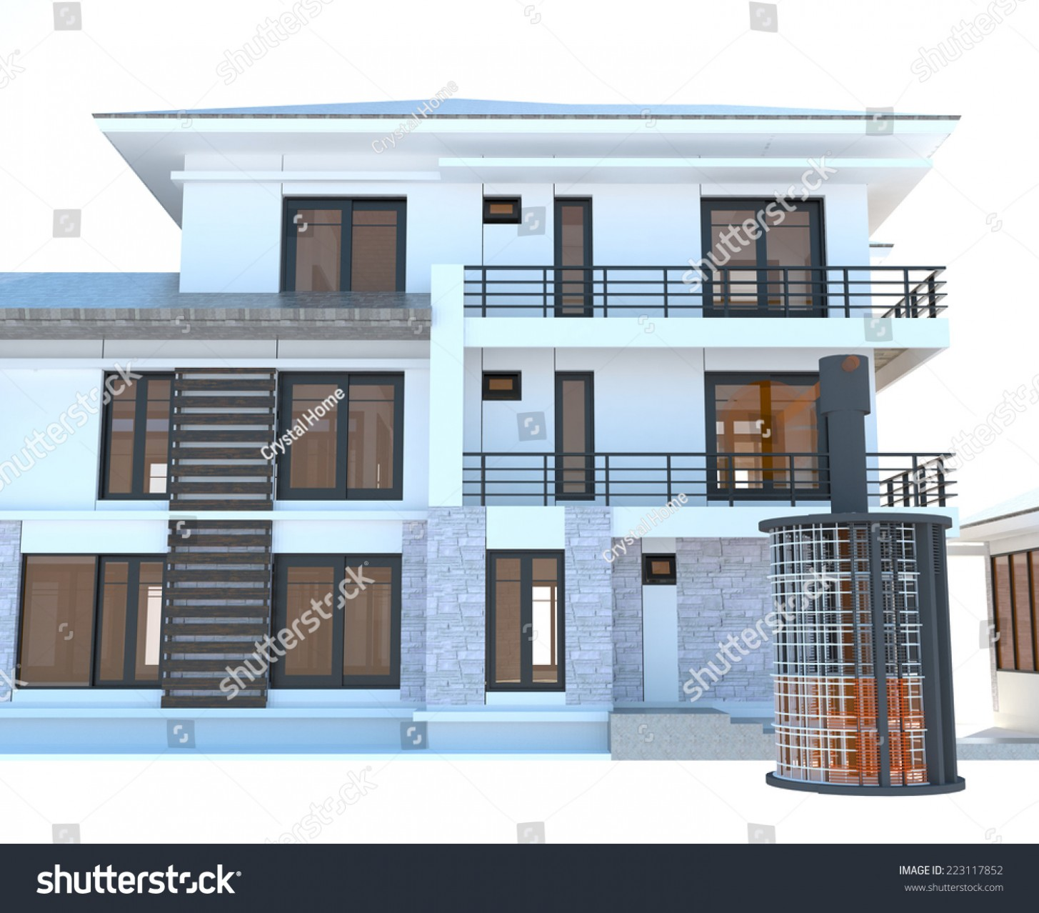 Future Residential Apartment Huge Outer Battery Stock Illustration  - Apartment Outer Design
