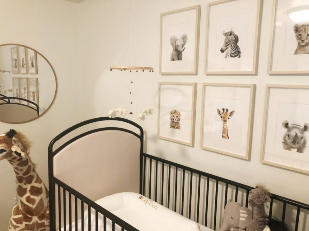 Gender Neutral Safari Nursery - Project Nursery  Neutral safari  - Baby Room Jungle Theme Ideas