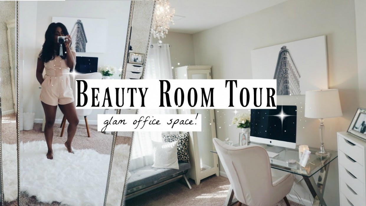 Glam Room Tour  Makeup & Office Inspo  My Style in 10 - Makeup Room And Home Office