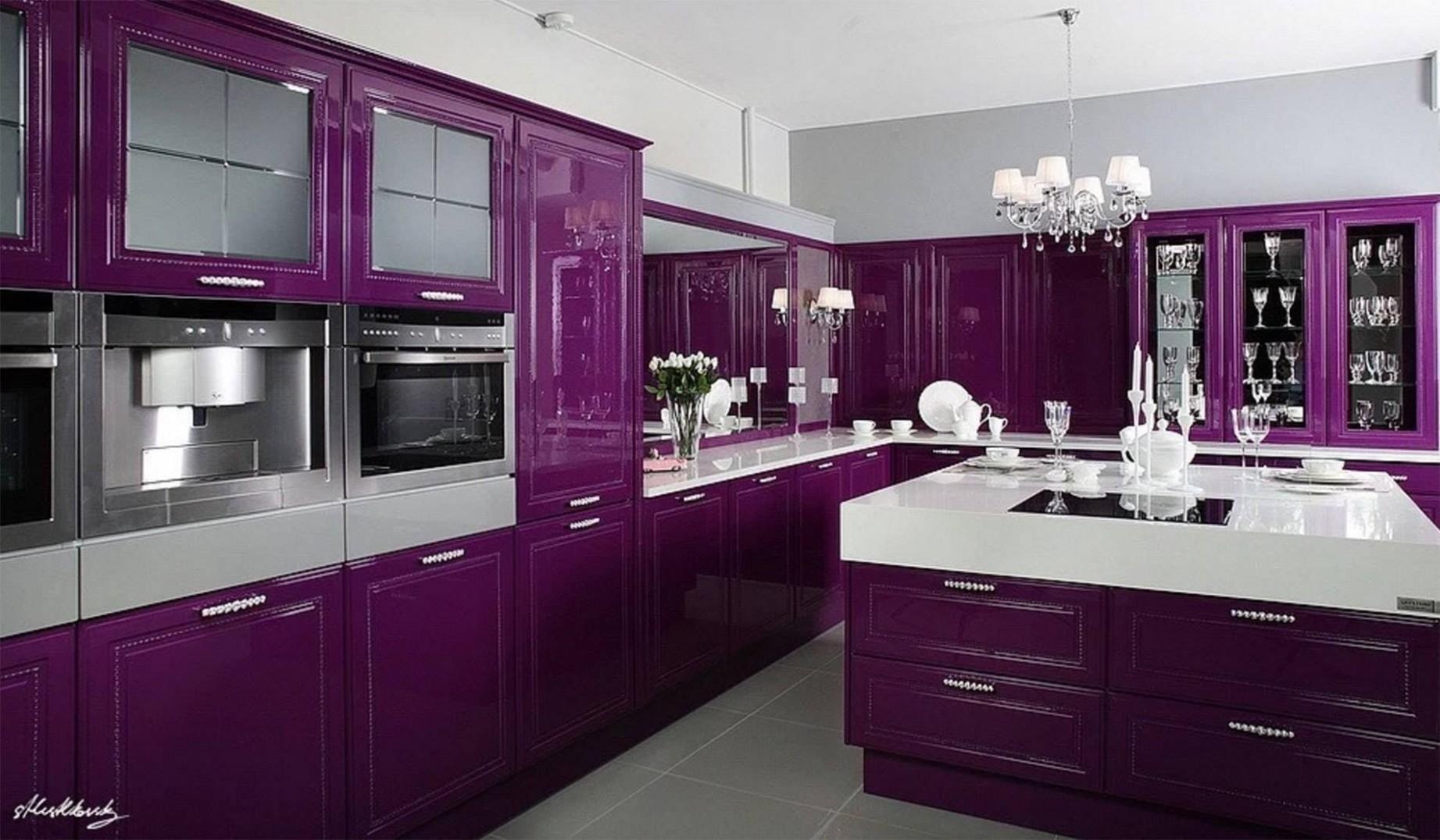 Glamorous Purple Kitchen  Purple kitchen cabinets, Purple kitchen  - Pink And Purple Kitchen Cabinets