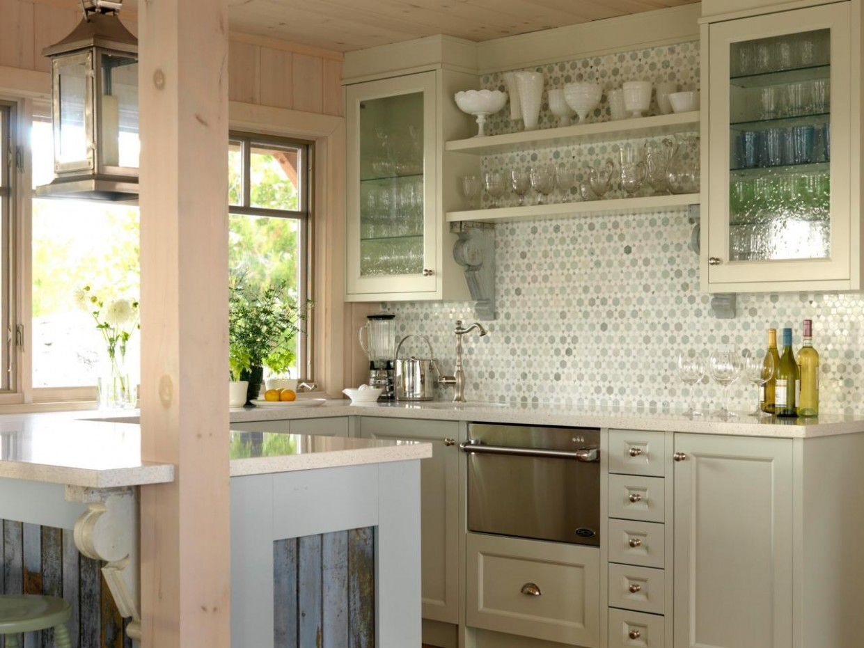 Glass Kitchen Cabinet Doors: Pictures & Ideas From HGTV  HGTV - Frosted Cabinets Kitchen