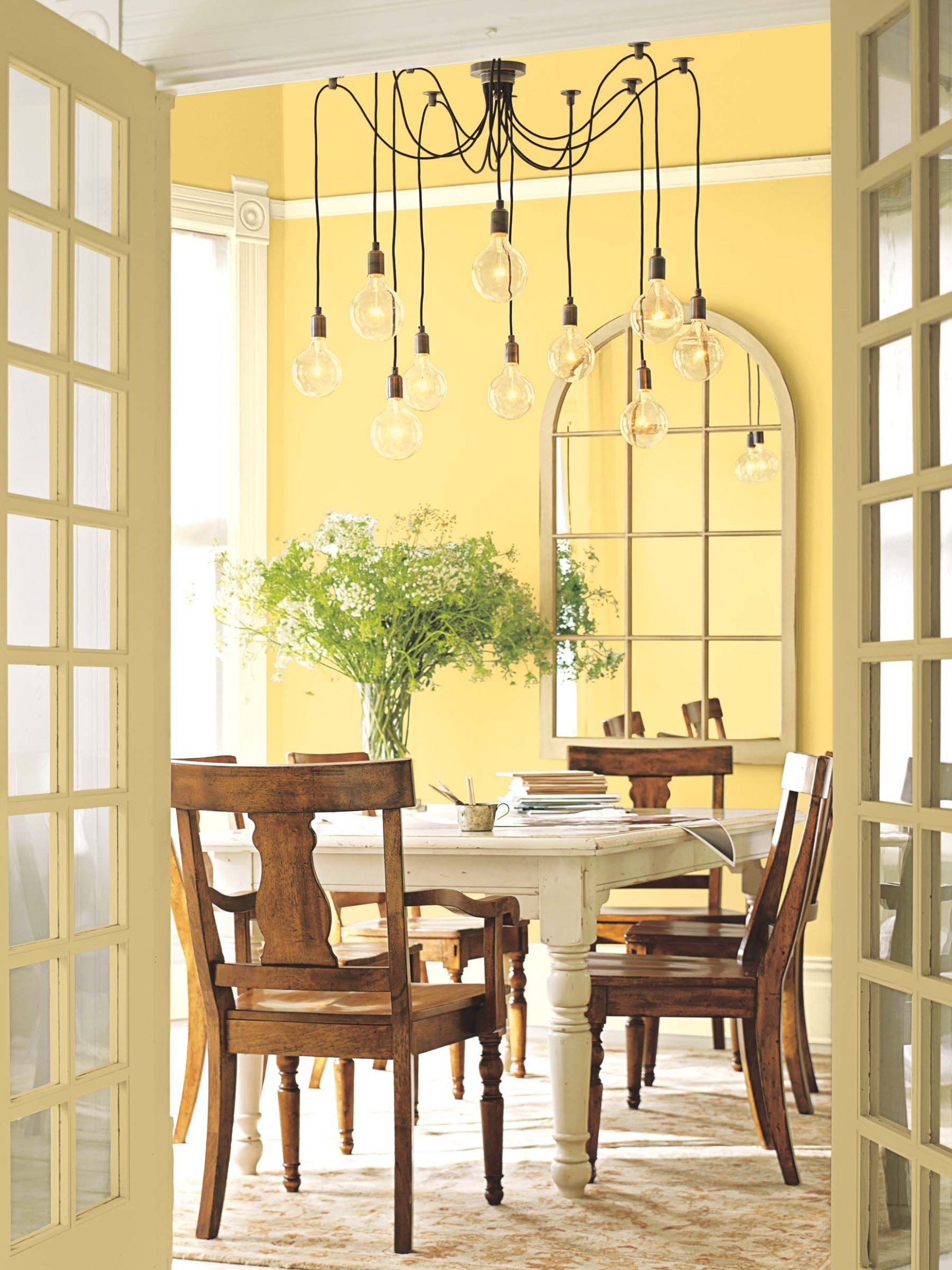 Golden Honey from Benjamin Moore on the wall