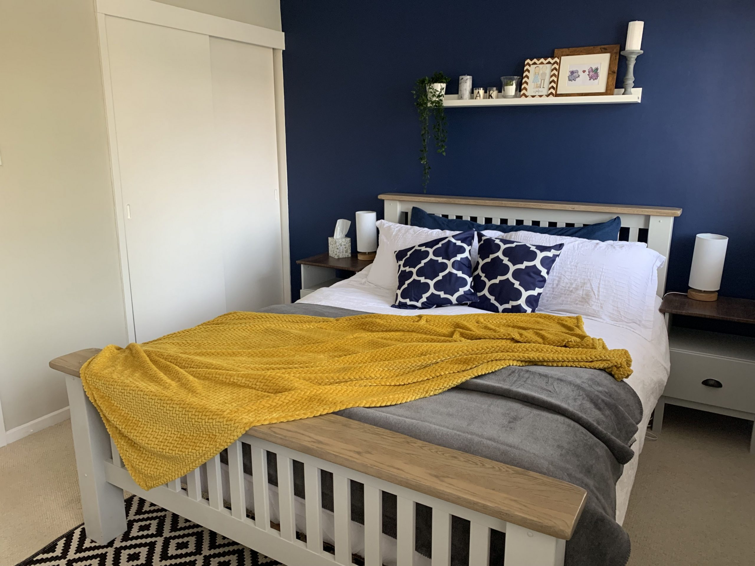 Gray navy mustard bedroom  Grey bedroom decor, Mustard bedroom  - Bedroom Ideas Mustard