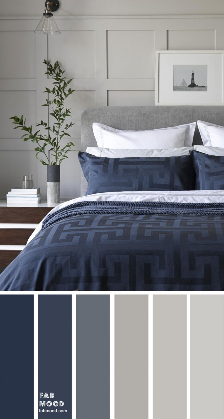 Grey and dark blue color scheme for bedroom - Bedroom Ideas Grey And Blue