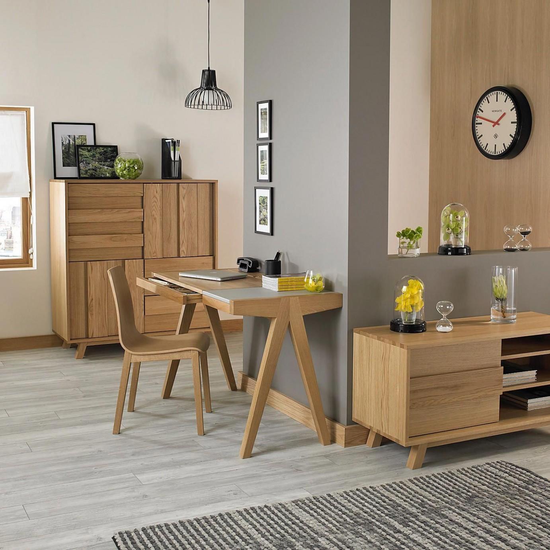 grey wood flooring and oak furniture - Google Search  - Dining Room Ideas Oak Furniture