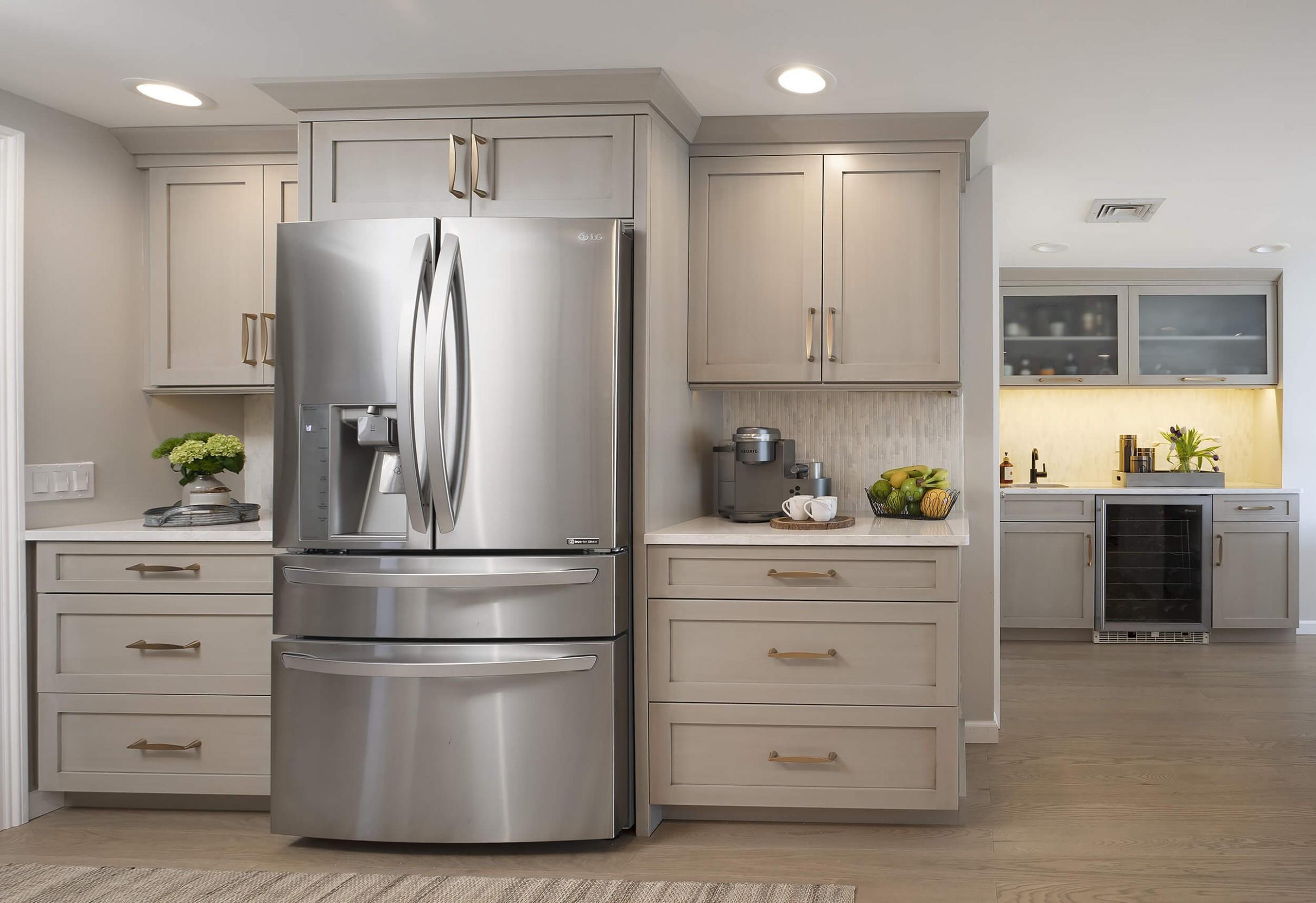 Hamden Kitchen - Fridge Cabinets  Viking Kitchen Cabinets - Kitchen Fridge Cabinet