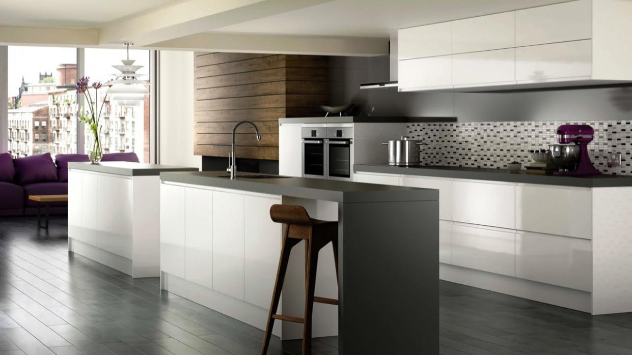 High Gloss White Modern Kitchen Cabinets - Brands, Options & Pricing For  High Gloss White Cabinets - Kitchen Cabinets Gloss White