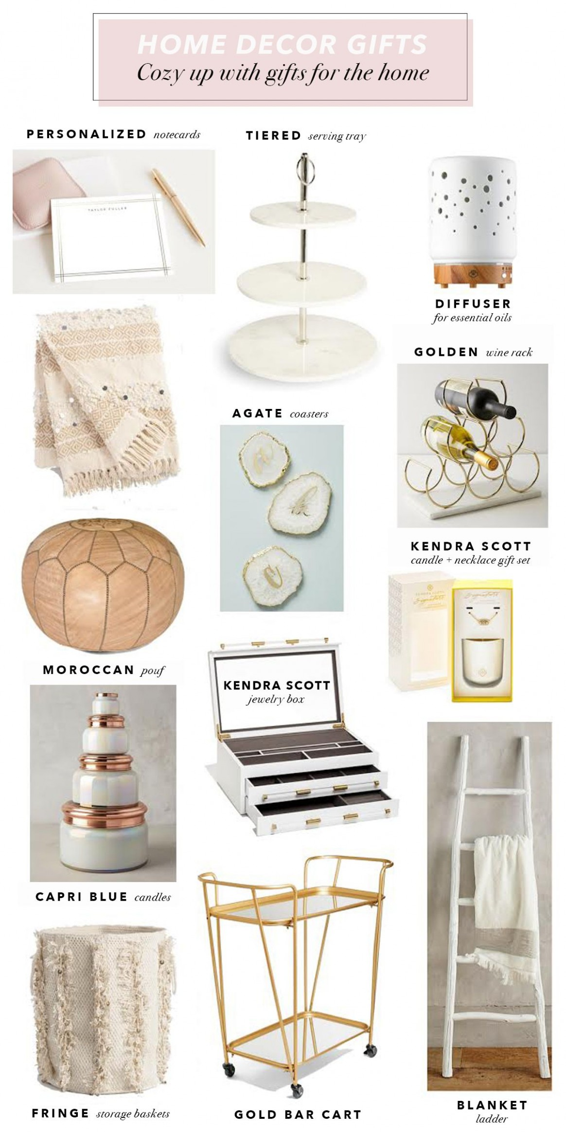 Holiday Home Decor Gift Ideas  The Lovely Gift Guide  Gifts for  - Home Office Gift Ideas