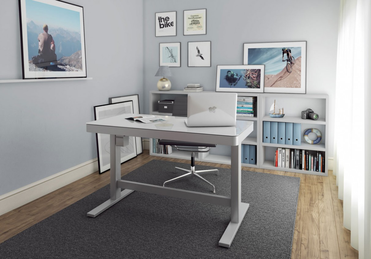 Home Office Buying Guide: How to Get the Perfect Desk - Twin Star Home - Home Office Ideas With Standing Desk