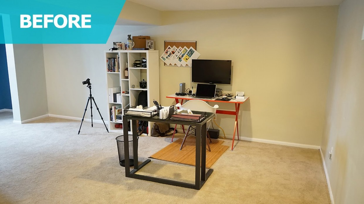 Home Office Ideas & Furniture – IKEA Home Tour (Episode 10) - Home Office Ideas For Basement
