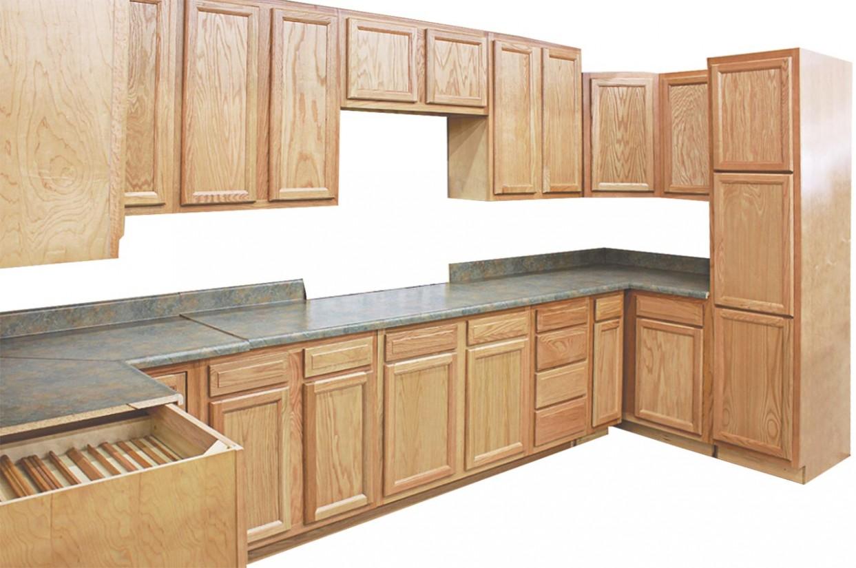 Honey Oak Kitchen Cabinets  Visit Us at Builders Surplus - Long Base Kitchen Cabinets
