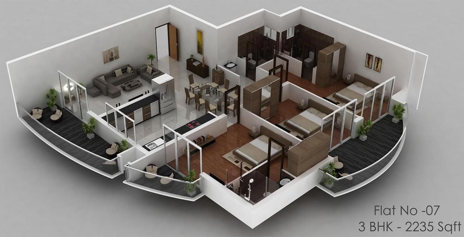 House Plan With Indoor Pool - Duplex Floor Plan 12D Design #28912  - Apartment Duplex Design