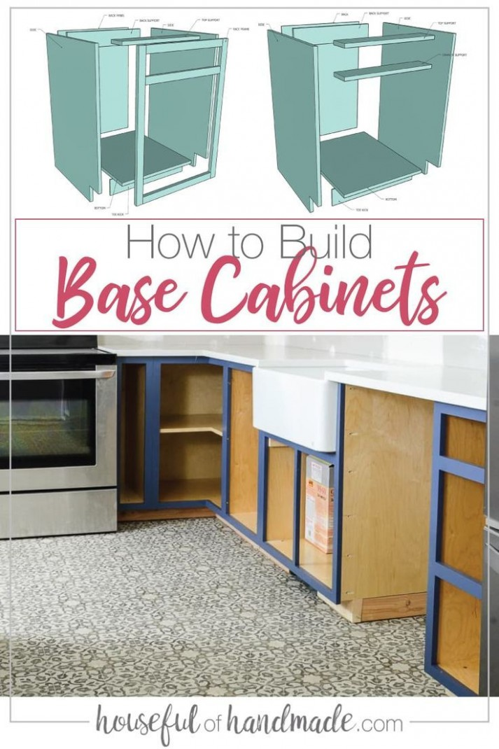 How to Build Base Cabinets in 8  Diy kitchen renovation  - Build Your Own Kitchen Base Cabinets