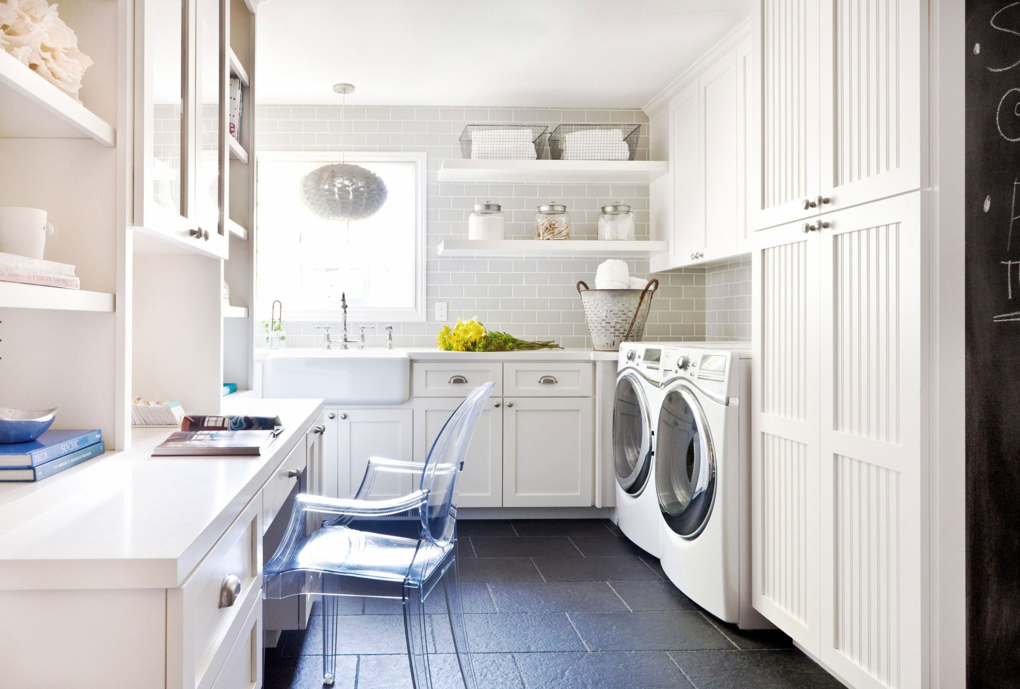 How to Create a Multipurpose Laundry Room - Laundry Room Office Ideas