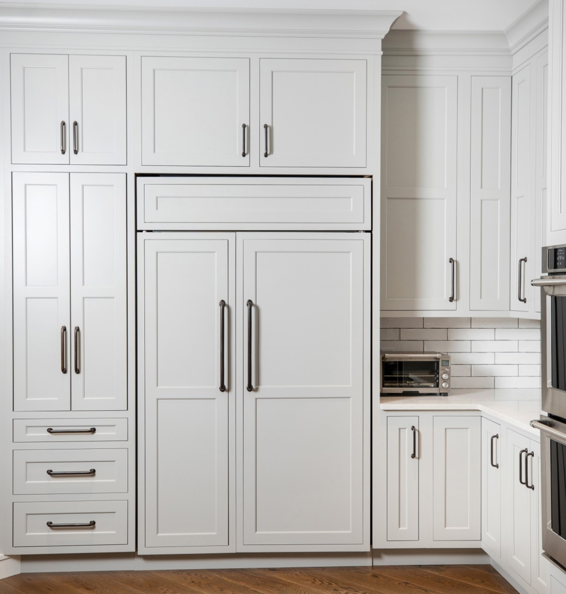 How to Hide Your Refrigerator In Plain Sight with Appliance Panels  - Kitchen Fridge Cabinet