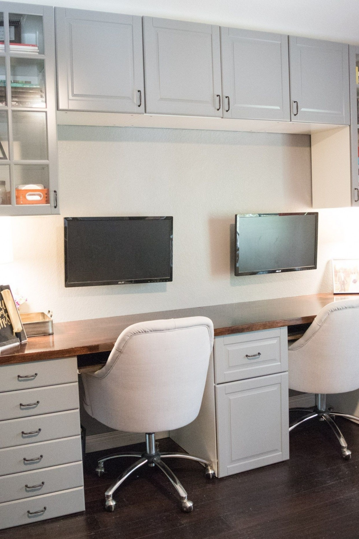 How To Make A Desk From Kitchen Cabinets: Part Two  DIY Without  - Home Office Ideas With Kitchen Cabinets