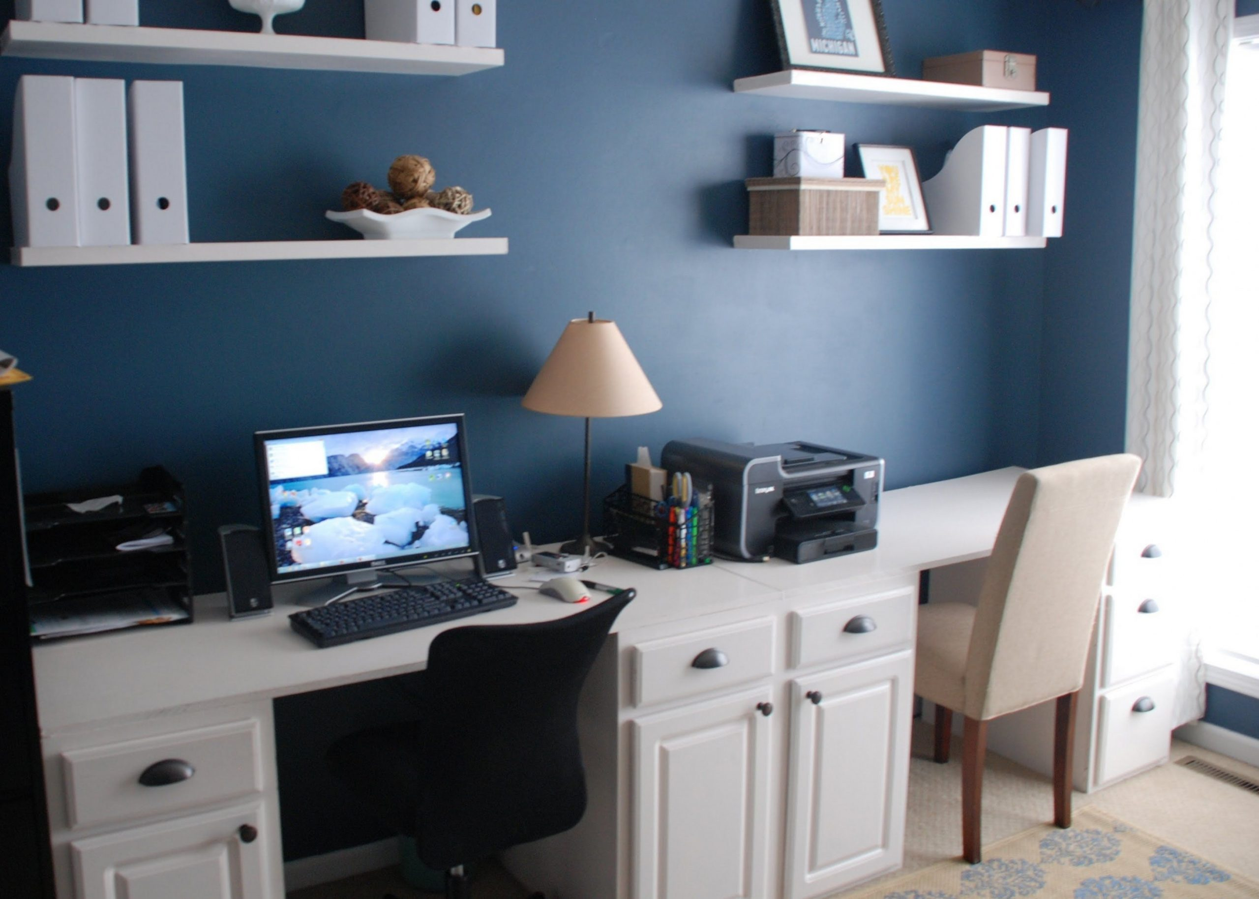 How to Make a Desk out of Kitchen Cabinets  Modern home office  - Home Office Ideas With Kitchen Cabinets