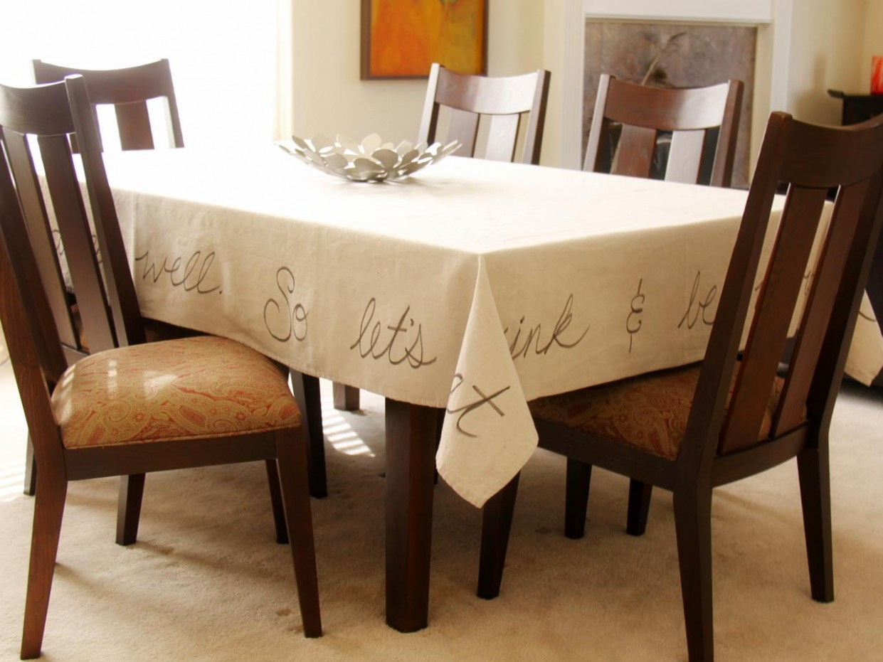 How to Make a Handwritten Tablecloth  how-tos  DIY - Dining Room Ideas Tablecloth
