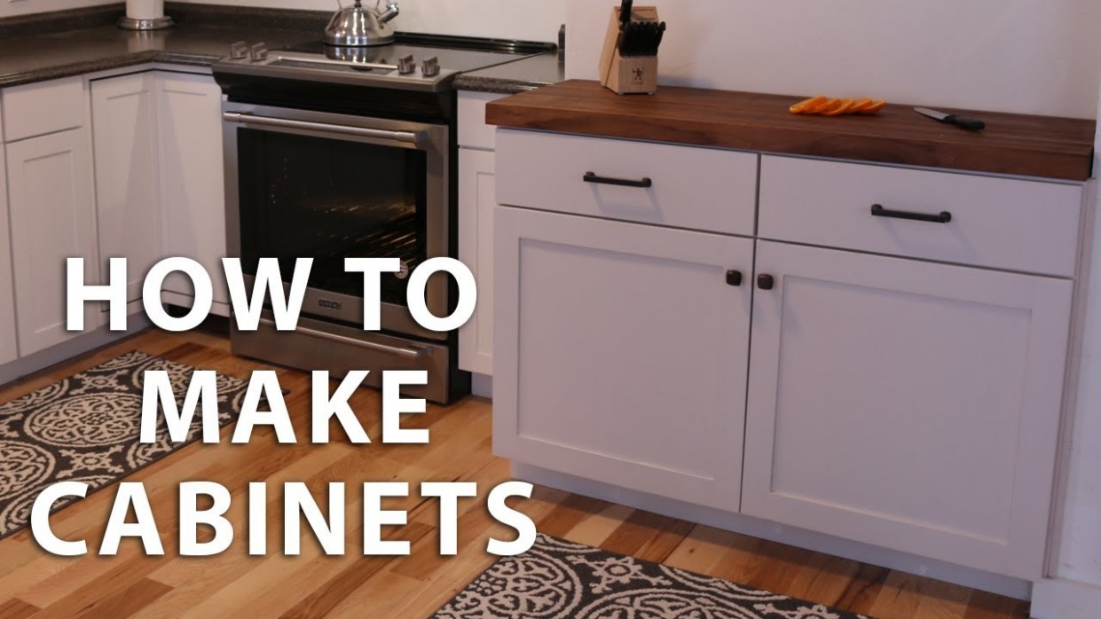 How to Make DIY Kitchen Cabinets - Build Your Own Kitchen Base Cabinets